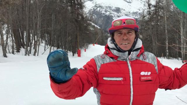Christophe, moniteur de ski à l'École de Ski Français de Puy Saint Vincent