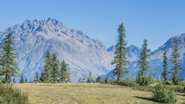 Descente de VTT depuis le Col de la Pousterle à Puy Saint Vincent
