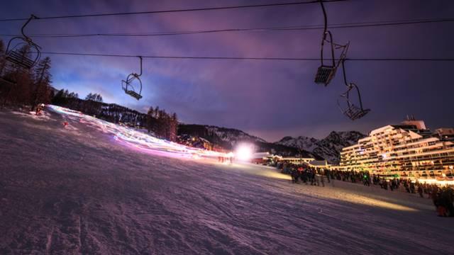 Ski nocturne à Puy Saint Vincent - English