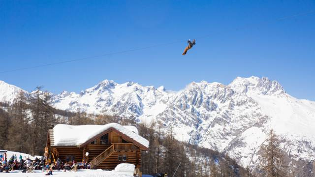 Tyroliennes avec Forêt Sensations à Puy Saint Vincent