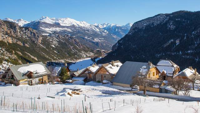 Vallée de Freissinières et hameau des Roberts