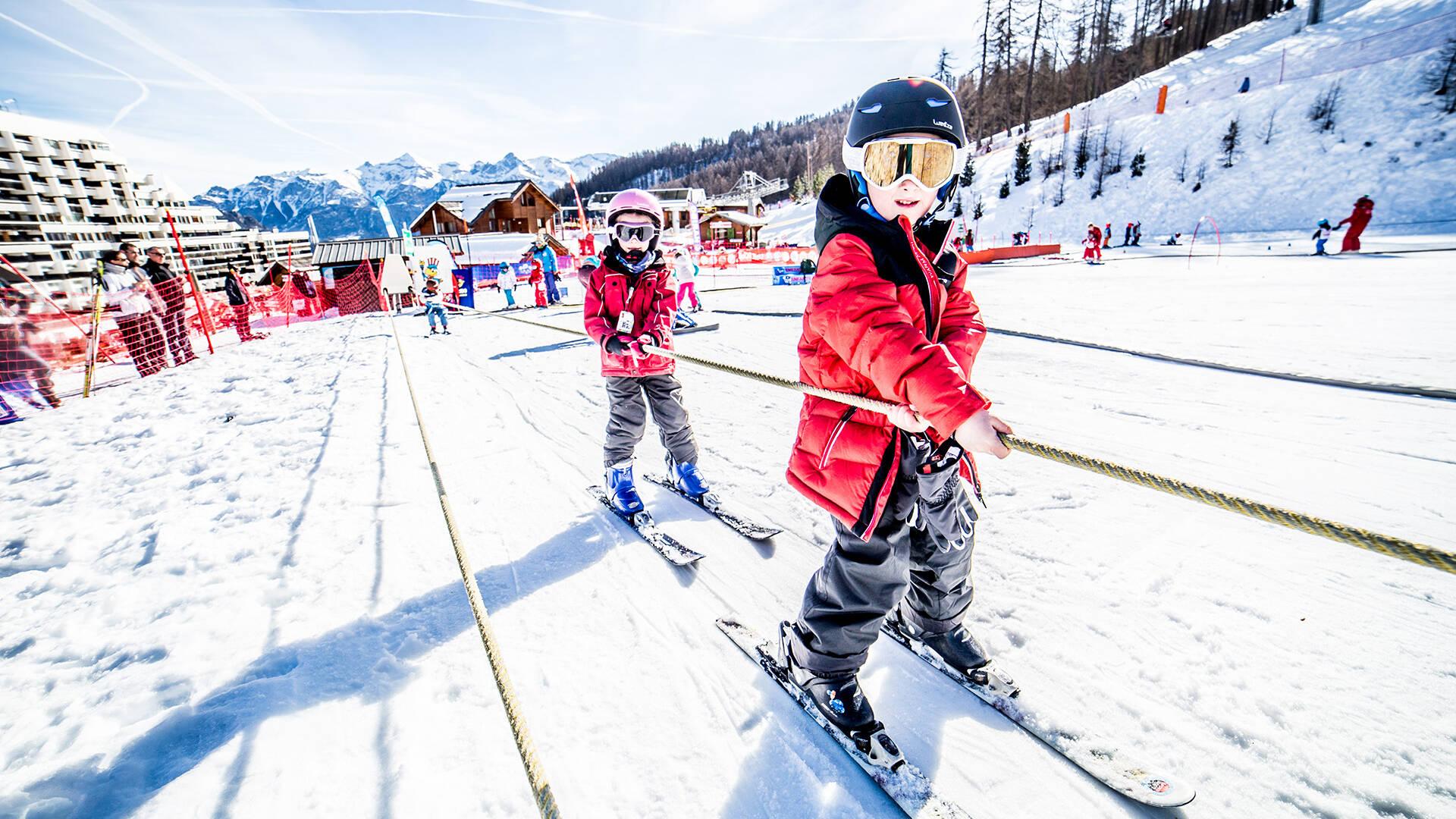 Cours collectifs ski jardin d'enfant École de ski Internationale Puy Saint Vincent