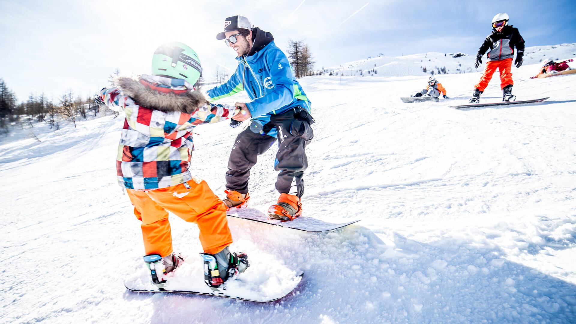 Cours collectifs snowboard École de ski Internationale Puy Saint Vincent