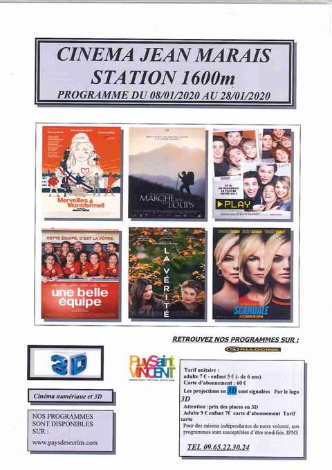 Programme cinéma de Puy Saint Vincent