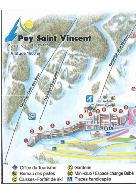 Plan des résidences Puy Saint Vincent