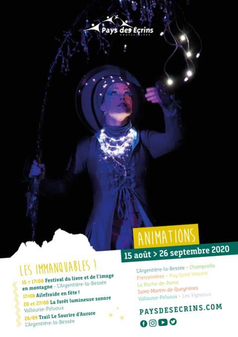 Programme d'animations du 15 août au 26 septembre