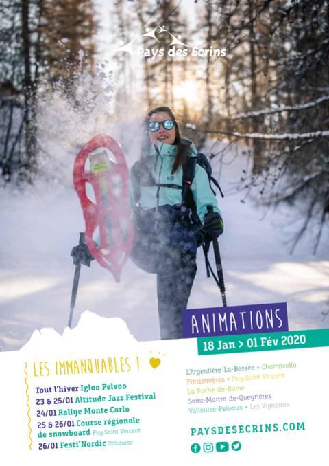 Programme des animations du 18 janvier au 01 février 2020