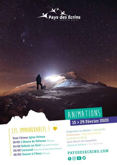Programme des animations du 15 au 29 février 2020