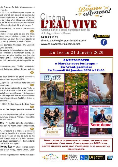 Programme cinéma de L'Argentière la Bessée
