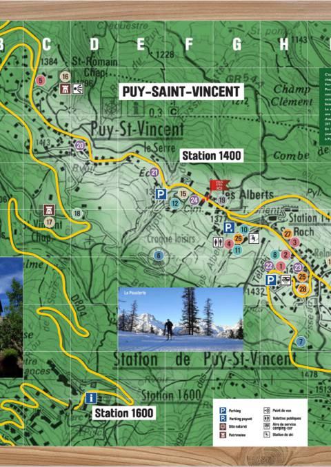 Plan de Puy Saint Vincent 1400