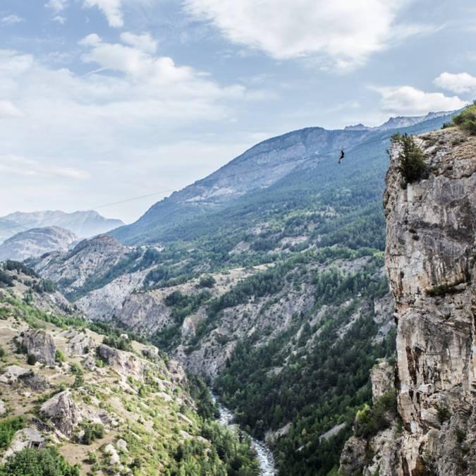Tyrolienne hautes Alpes